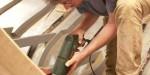 Drilling steamed frames for copper nails